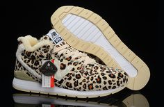 Fashion New Balance 996 High Top Leopard Wool For Winter Womens Shoes