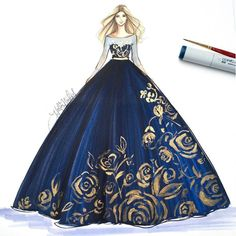 Royal Blue . Copic Marker + acrylics. Watch her shine on snapchat HNILLUSTRATION (at H. Nichols Illustration)