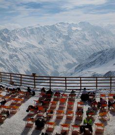 Stunning view at the terrace on top of the Gaislachkogl - SÖLDEN, Austria