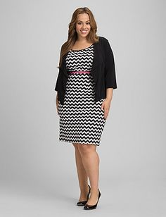 Plus Size Chevron Jacket Dress | Dressbarn