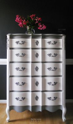 French Gray and white 5 by Martha Leone Design