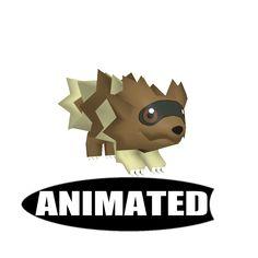 3D Model Zigzagoon Animated | Cartoon Character 3D Models | Luke - 3D Squirrel