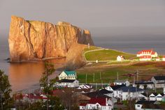 """Perce Rock and Bonaventure Island, coastal Quebec, Canada.  I traveled there with my high school french class a """"few"""" years ago."""