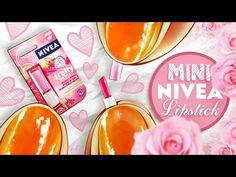 Realistic Miniature NIVEA Lipstick Fruity Shine Tutorial! | DollHouse DIY ❤ - YouTube