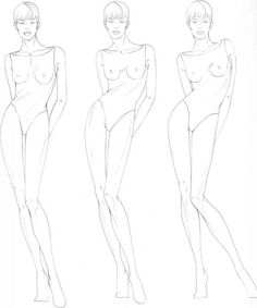 Pin Figure Drawing For Fashion Design On Pinterest
