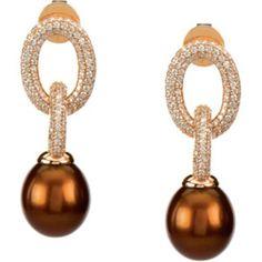 Chocolate Pearl Earrings | Stunning Chocolate Pearl Drop Earrings