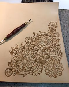 Working on a notebook using this lovely Chan Geer pattern. I really like the flow in his patterns.
