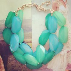 Mint & Turquoise Underwater Adventure Necklace --> Follow us on IG @preebrulee