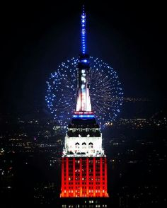 The Empire State Building July 4th