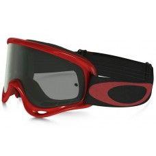 Oakley O-Frame XS MX Goggles red frame / Dark Gray lens
