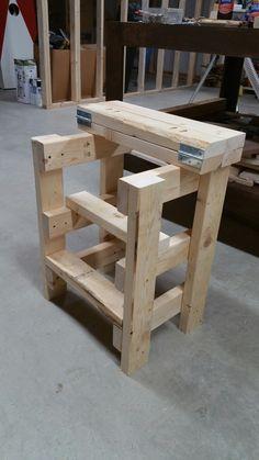 Simple step stool/sitting stool
