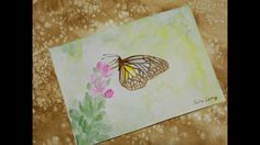 🎨 How to draw a butterfly with coffee and watercolor / Как нарисовать ба...