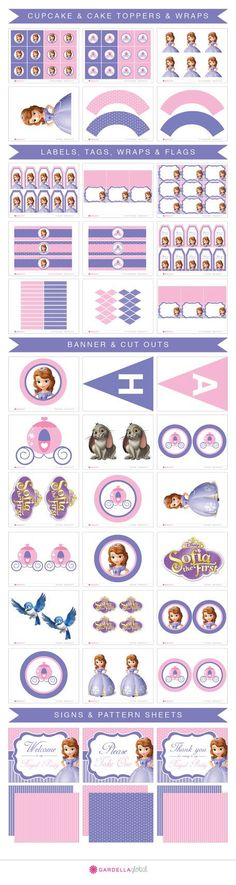 Sofia The First Birthday Sofia The First by GardellaGlobal on Etsy