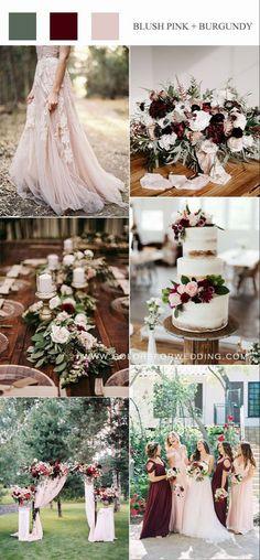 Pink And Burgundy Wedding, Pink Wedding Colors, Wedding Color Schemes, Wedding Flowers, Blush Winter Wedding, Summer Colors For Wedding, Spring Wedding Themes, Wedding Theme Ideas Unique, Wedding Colour Palettes