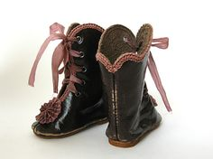 Handmade Leather Doll Shoes Boots for Antique Doll | eBay