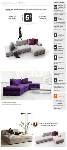 Sillon Sofa Esquinero Premium Convertible Cama Living - $ 12.790,00
