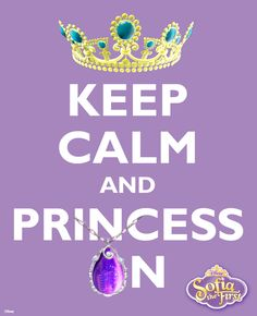 Keeping calm while princessing on! #SofiaTheFirst