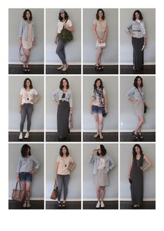 She got rid of her entire wardrobe, then made these 12 outfits out of 10 pieces!
