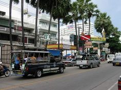 Songthaew Transport in Thailand