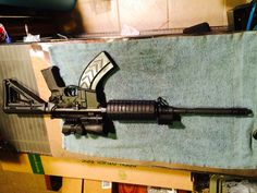 The abomination!  AR platform chambered in 7.62x39