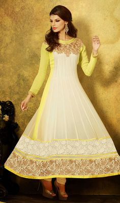 Natasha Couture - Shop with confidence from the exclusive collection of Indian Designer Women Clothing. We offer wedding lehenga, bridal lehenga, wedding sarees and anarkali suits online in India and Worldwide. Long Anarkali, Anarkali Dress, Anarkali Suits, Georgette Dresses, Indian Dresses, Indian Outfits, Indian Clothes, Ladies Suits Indian, Latest Salwar Suit Designs