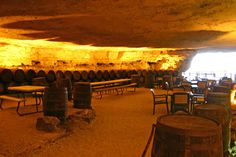 Cave Vineyard Winery in Missouri | VisitMO.com. About 1 1/2 hours outside of Cape Girardeau, MO; enjoy the day and have a unique picnic experience. Don't forget to stop by their Biscotti Bar! They are all homemade, and great for dunking in their wine.