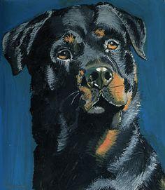 Dog Nail Art, Rottweiler Love, Watercolor Pictures, Art Van, Art Prompts, Lion Art, Dog Illustration, Dog Paintings, Dog Portraits