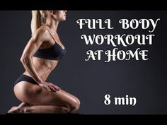 FULL BODY WORKOUT AT HOME/8 MIN/PILATES - YouTube Pilates At Home, Pilates Body, Full Body Workout At Home, At Home Workouts, Pilates Workout Routine, Pilates For Beginners, Workout Pictures, Fitness Pics, Weight Loss