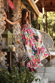 Boho Floral Maxi Dress | Bohemian Fashion Inspiration