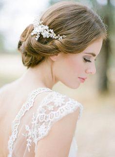 JULIET pearl bridal hair comb by percyhandmade