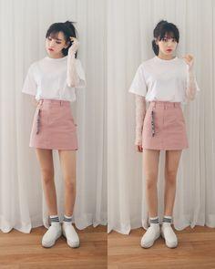 korean fashion outfits in 201 Korean Fashion Shorts, Korean Fashion Trends, Korean Street Fashion, Ulzzang Fashion, Korea Fashion, Korean Outfits, Asian Fashion, Skirt Fashion, Fashion Outfits