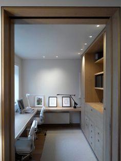 Arbeitszimmer Ideen, minimalistische Einrichtung, Wand in ...