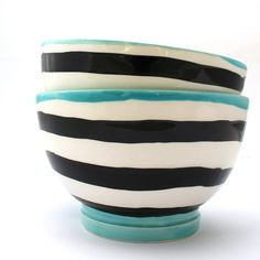 Hand Painted Ceramic Bowl - Rice Bowl - Mix and Match Pottery