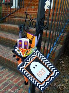 """You've Been Boo'ed is a fun neighborhood tradition where you secretly deliver candy to your neighbors and ask them to pass on the fun.: """"Boo"""" Your Neighbor from Uncommon Designs"""