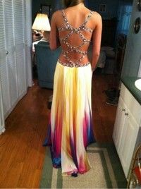 Elegant Multicolor Long Dress