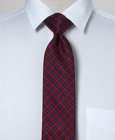 Brooks tie: Narrow ancient madder.