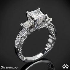 #whiteflash.com #ring #Platinum #Verragio #Bead-Set #Princess #Stone #Engagement #Ring Platinum Verragio Bead-Set Princess 3 Stone Engagement Ring http://www.seapai.com/product.aspx?PID=756390