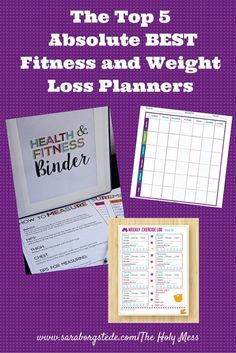 Need to lose weight? The first step is to get organized! Use one of these printable planners. The Top 5 Absolute BEST Fitness and Weight Loss Planners|The Holy Mess