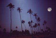 Full moon on Vagator Goa1976