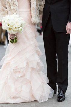 Wedding Dress Ideas, Designers & Inspiration  :    Layered tulle blush wedding dress: www.stylemepretty…   https://greatmag.net/wedding/wedding-dress/wedding-dress-ideas-layered-tulle-blush-wedding-dress-www-stylemepretty/