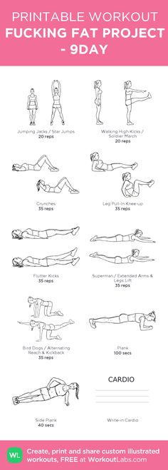 FUCKING FAT PROJECT : Stretching is the first. Do 3 cycles sequentially and the last is CARDIO 10 minutes.