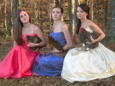 who hasn't taken a picture with a chicken and a prom dress? everybody's doin it