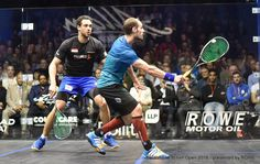 Keep your shoulders facing the sidewall through impact on the backhand volley. It will lead to more control and make you hit straighter and tighter. #squash #psa #psaworldtour #coaching #technique #SquashSkills