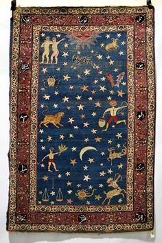 Tapis zodiac - sudouest Persian early XXS