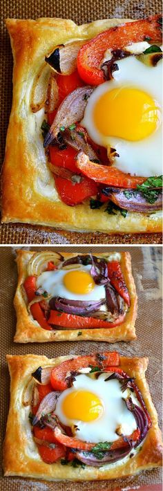 Red Pepper And Baked Egg Galettes With pesto maybe? For supper with a salad