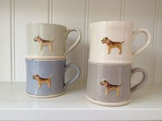 I so want these!!! Border Terrier Mug by Jane Hogben