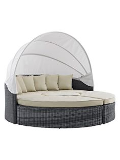 Summon Canopy Outdoor Patio Daybed Set (4 PC) by Modway Outdoor at Gilt