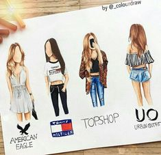 Auf jeden Fall Tommy Hilfiger – # Hilfiger # Zeichnung # Tommy – Carola - New Sites App Drawings, Cute Drawings, Outfit Drawings, Pencil Drawings, Dress Drawing, Drawing Clothes, Drawing Drawing, Fashion Design Drawings, Fashion Sketches