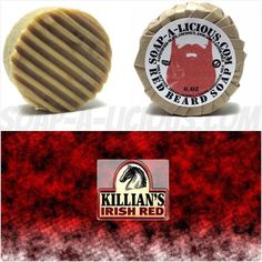 Our RED beard shampoo & soap is made with Killians Red Beer this bar delivers crazy suds amazing citrus smells made with citrus hops and essential oils this shampoo will make your beard very HOPPY HOPPY HOPPY!  On the site now // TAG A BEARDO// soap-a-licious.com by soapaliciousfl