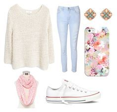 """Cute outfit for teen girls"" by udeapage on Polyvore featuring Glamorous, MANGO, Forever 21, Mixit, Converse, Casetify, women's clothing, women, female and woman"